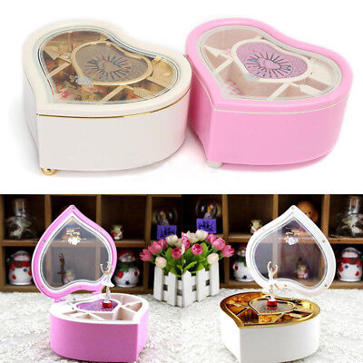 Heartshaped Dancer Ballet Classical Music Box Dancing Ballerina Musical Toy Gift