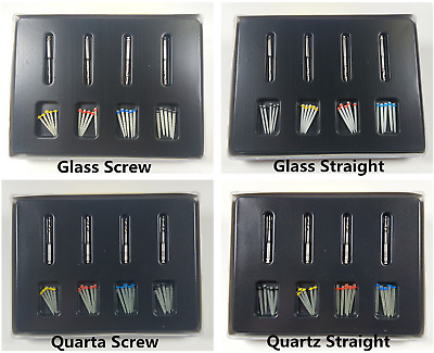 Dental Fiber Post Quartz/Glass Resin Root Canal Pin Screw Post +Drill 1Pack