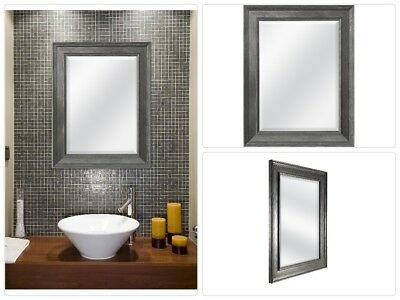 Bathroom Glass Mirror Wall Mounted Beveled Frame Molding Mount Hanging  Vanity