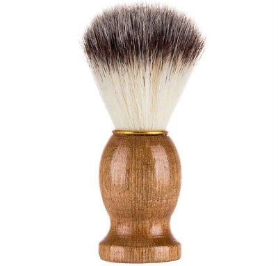 Retro Wood Handle Men Shaving Foam Brushes Beard Facial Hair Removal Brush