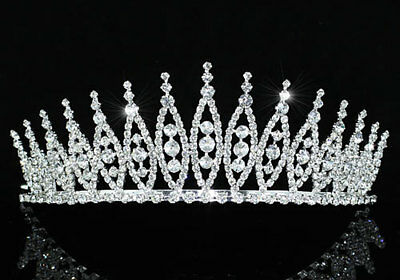 Pageant Beauty Contest Bridal Wedding Tiara Use Austrian Crystal CT1531