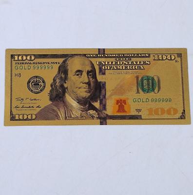 The United States Gold Foil Commemorative Money Coin Fake 100 Dollar Collections