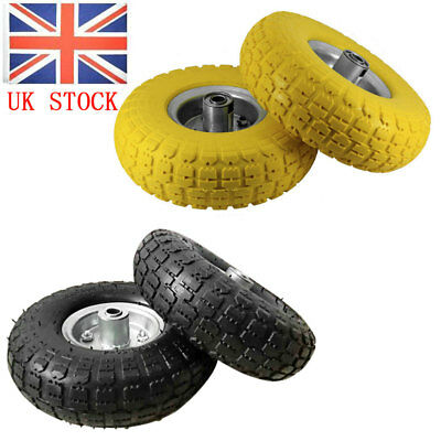 """2 x Replacement 10"""" Pneumatic Sack Hand Truck Trolley Wheel Barrow Tyre Tyres"""