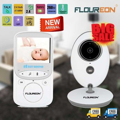 2.4'' Color LCD Wireless Baby Pet Monitor IR-CUT Security Kid Video Audio Camera