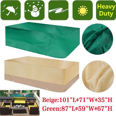 Heavy Duty Waterproof Furniture Cover Rectangle Patio Table Chairs US MY
