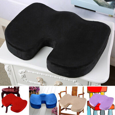 Orthopedic Coccyx Car Seat Office Chair Cushion Velvet Foam Relief Pillow Pad