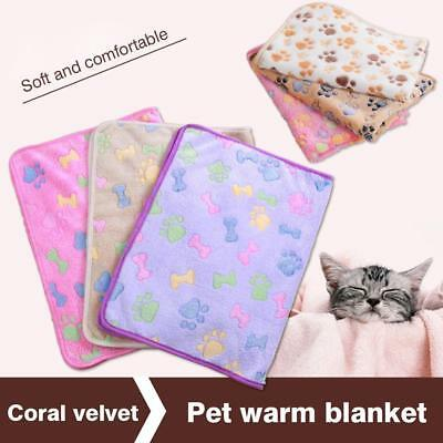 Pet Warm Mat Small Large Paw Print Cat Dog Fleece Soft Blanket Cushion Wholesale