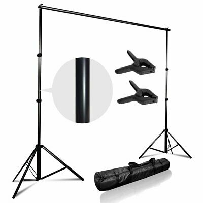 Adjustable Background Support Stand Photo Backdrop Crossbar Kit Photography MY