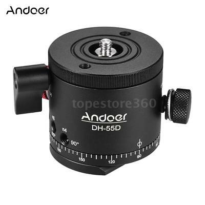 Andoer DH-55D 360° Tripod Monopod HDR Panoramic Ball Head with Indexing Rotator