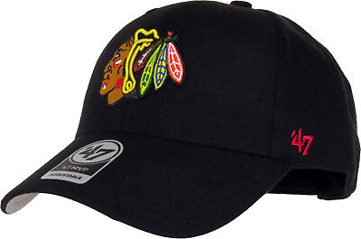 Chicago Blackhawks 47 Brand MVP Adjustable Black NHL Cap