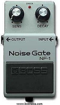 Boss Nf-1 Noise Gate Suppressor Effects Pedal Made In Japan 1987 Black Label