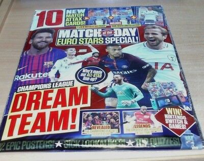 Match of the Day magazine Euro Stars Special + Silver Limited Edition Card