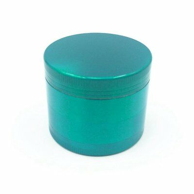 New 4-Piece Herb Grinder Spice Tobacco/Weed Smoke Zinc Alloy Crusher Leaf Green