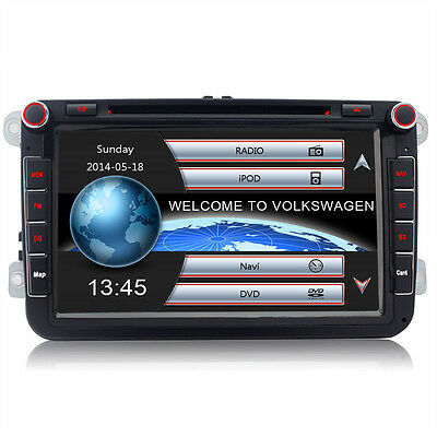 "8"" Car stereo DVD GPS Sat Nav for VW GOLF PASSAT JETTA TOURAN CADDY T5 POLO SEAT"