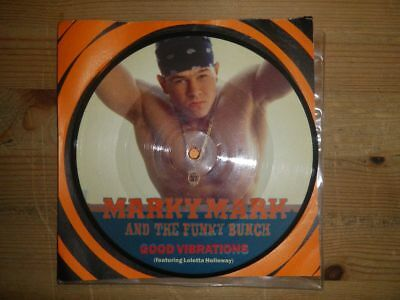 """MARKY MARK & THE FUNKY BUNCH: Good Vibrations...  WARNER REC., PICTURE DISC, 7"""""""