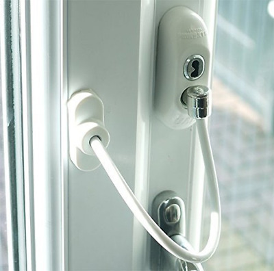 Max6mum Security Window and Door Restrictor for Baby and Child Safety - White