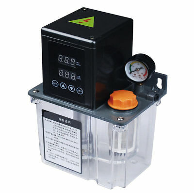 1.5L Auto Lubrication Pump CNC Dual Digital LCD Electronic Timer Oiler 25W 220V