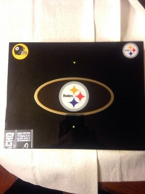Pittsburgh Steelers Cigar Box! Real Cigarbox With Stickers Homemade-COOL!!!