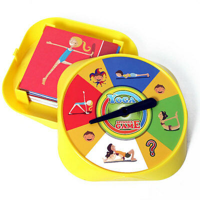 Fitness Interactive Yoga Card Funny Plastic Spinner Game