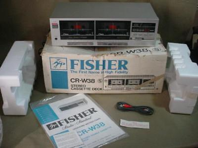Vintage Fisher Cr-W38 Stereo Double Cassette Dual Deck W Box Works