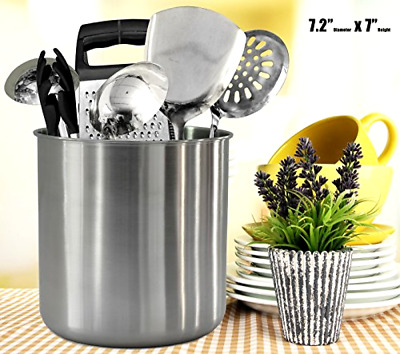 Kitchen Utensil Holder Stainless Steel Metal Large Holders Crock Caddy Organizer