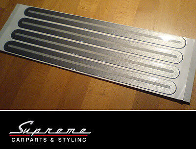 Bumper Socket Strips 4 Pieces 12.99x0 31/32in Alloy Look with reflector strip