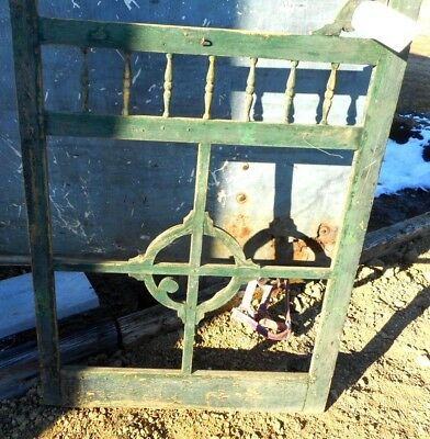 Vintage Wood Screen Door Antique Salvaged Farmhouse Victorian 80 1/2  X 31 1/2