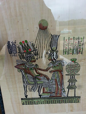 EGYPTIAN PAPYRUS? PAPER WALL ART PICTURES Certified? Framed Eqypt
