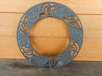 Farmhouse Decor Round Cast Ornate Grate Floor Heat Register Vent Restoration