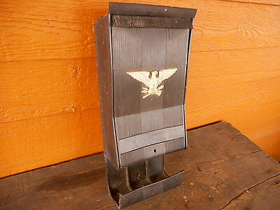 Black Home Mailbox Mail Wall Mount Plastic Used