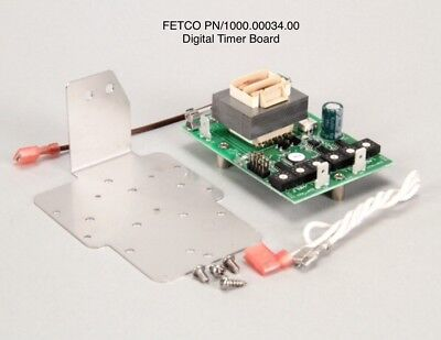 "Fetco #1000.00034.00 Board Assembly Digital Timer Board 110-120Vac ""New"""