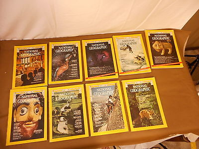 1974 Vintage National Geographic Magazines 1974 Lot of 9