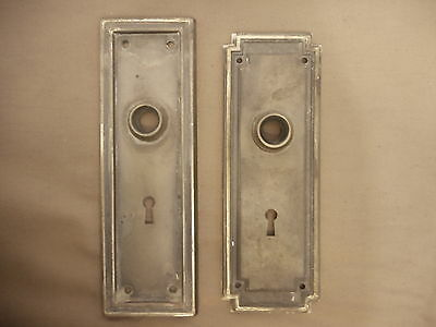Antique Key Back Plate to Door Knob Plate Architectural Salvage Victorian restor