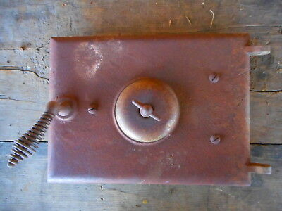 Antique Stove Door Iron Grill Salvage Art Farmhouse Country Rusty Salvaged