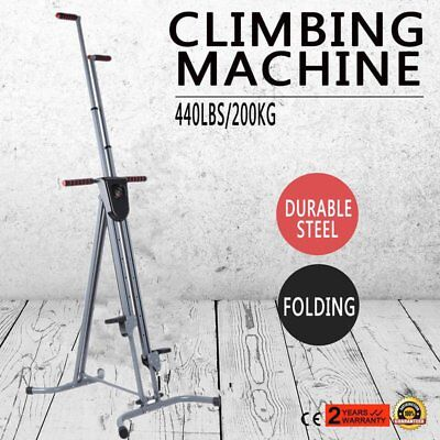 Folding Vertical Climber Stepper Climbing Cardio Exercise Adjustable Height maxi
