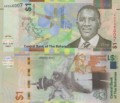 Bahamas 1 Dollar (2017) - Police Band/New Issue/pNew UNC