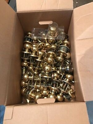 huge mixed lot door knobs and locks brass complete sets