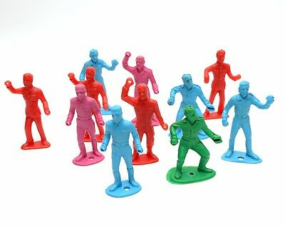 Lot of 11 Vintage Plastic Toy Soldiers Man Figurine MPC MARX 1960s