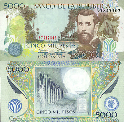 Colombia 5000 Pesos (15.11.2006) - Winged Insect/Moon/452h UNC