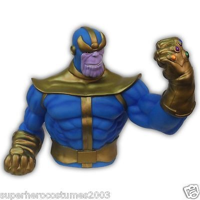 The Avengers Thanos The Infinity Gauntlet Bust Bank Marvel Comics Piggy Bank NEW