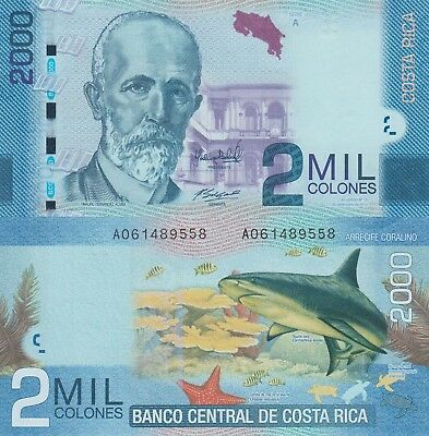 Costa Rica 2000 Colones (11.09.2013) - Shark/Turtles/p275 UNC