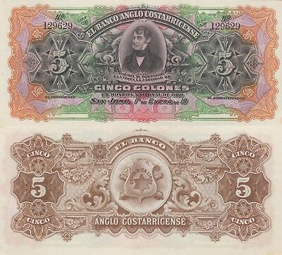 Costa Rica 5 Colones (1911) - pS122R UNC