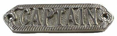 "5 5/8"" Captain Wall Plaque - Chrome Finish"