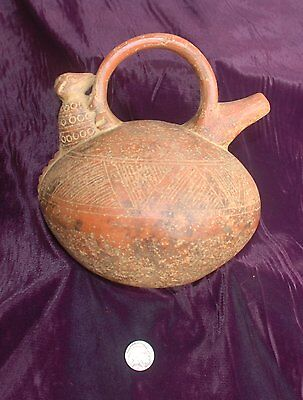 Pre-Columbian ~ MAYAN ~ Pre-Colombian Terracotta  Zoomorphic STIRRUP SPOUT ~ NR