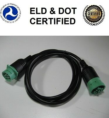 CAN/J1939/J1708 9 pin Green type 2 X2 Male/female diagnostic extension cable ELD