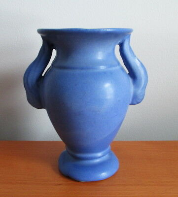 "Niloak Blue Winged Vase 5 5/8"" E525 Assortment 1940s USA Pottery Signed"
