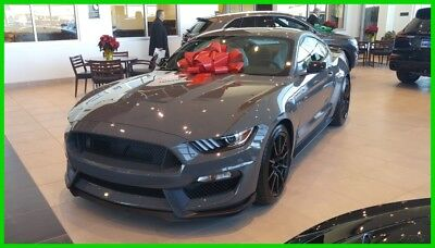 2018 Ford Mustang black leather/ suede 2018 SHELBY GT350 LEADFOOT GRAY!