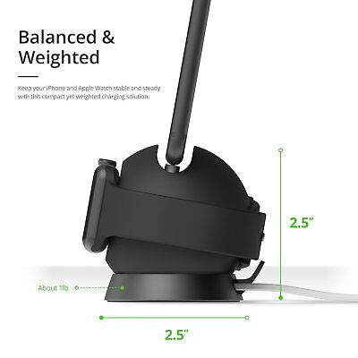 iOttie OmniBolt Apple Watch & iPhone Charging Stand - Color: Graphite