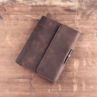 Crazy Horse Leather Vintage Handmade Travel Notebook Small Diary Journal Book A5