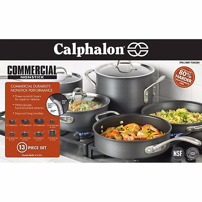 Calphalon Commercial Nonstick Hard Anodized 13 Piece Cookware Set #22